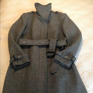 Burberry Gibbsmore Wool Trench Coat Size 8
